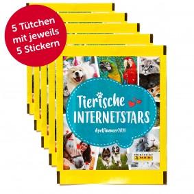PANINI Tierische Internetstars Sammelsticker 25er Pack (5 Tütchen)