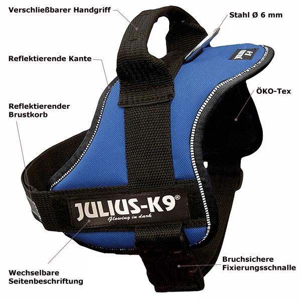 Julius-K9 Geschirr für Hunde Gr.Mini-Mini/S 40-53cm