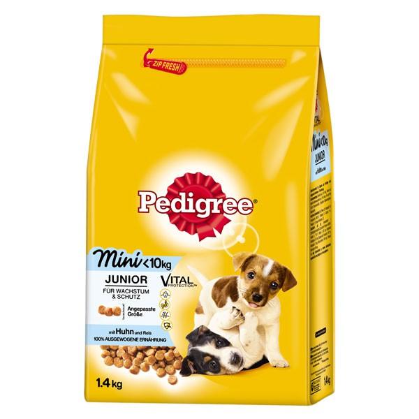 Pedigree Hundefutter Junior Mini mit Huhn und Reis 1,4kg