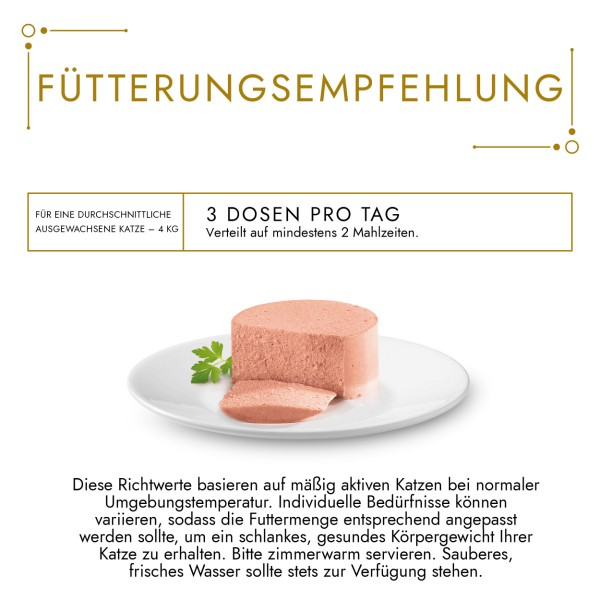 GOURMET Gold Feine Pastete Katzennassfutter mit Ente & Spinat