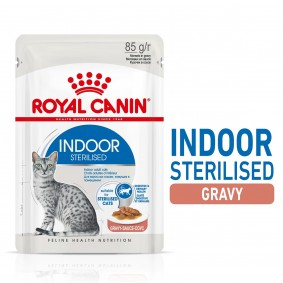 ROYAL CANIN INDOOR Sterilised in Soße Nassfutter für Wohnungskatzen