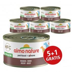 Almo Nature HFC Natural Dog Rind 5+1 gratis