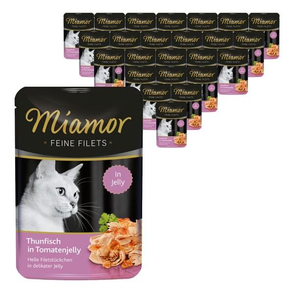 Miamor Katzenfutter Feine Filets Thunfisch in Tomatenjelly 24x100g