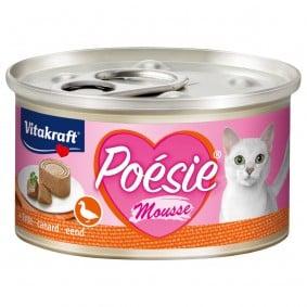 Vitakraft Katzenfutter Poésie Mousse Ente 12x85g