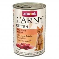 Animonda Katzenfutter Carny Kitten mit Kalb und Huhn