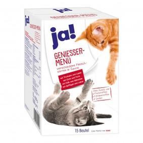 ja! Genießer Menü Multipack Fleisch für Katzen 120x100g