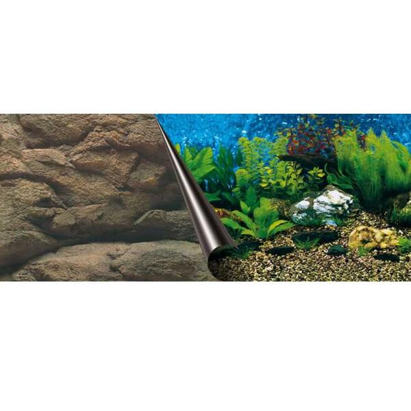 Aquarium Photo-Rückwand Sea+Rock - 120x50cm