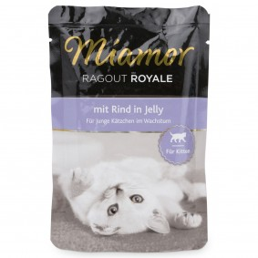 Miamor Katzenfutter Ragout Royale in Jelly Kitten Rind