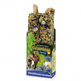 JR Farm Nagersnack Grainless Farmys Gänseblümchen-Kornblume 140g