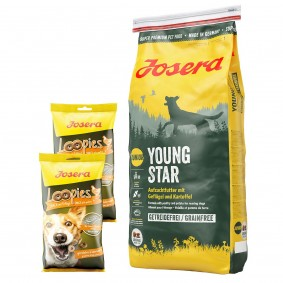 Josera YoungStar 15kg + Loopies Geflügel 2x150g