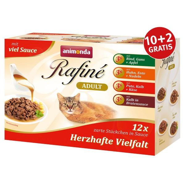 Animonda Rafiné Adult Multipack Herzhafte Vielfalt in Sauce 4 Sorten
