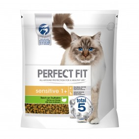 Perfect Fit Katzenfutter Sensitive 1 + reich an Truthahn
