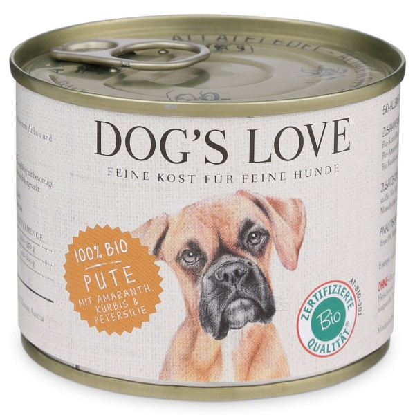 Dog's Love Bio Pute mit Amaranth, Kürbis & Petersilie