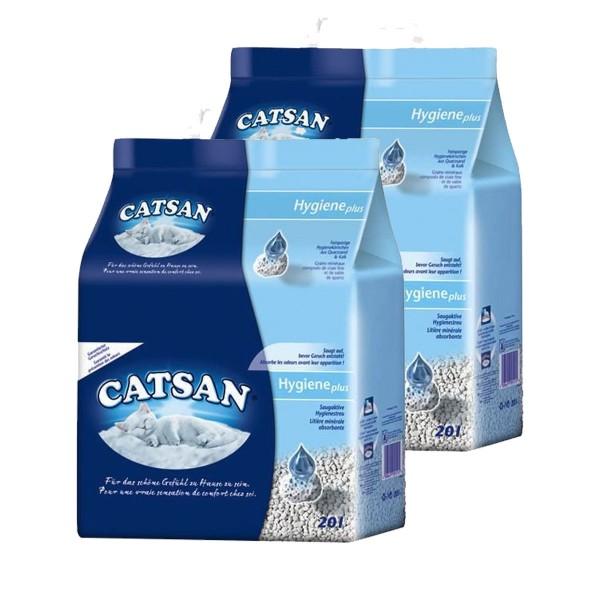 Catsan Hygiene Katzenstreu Vorratsbundle 2x20 Liter