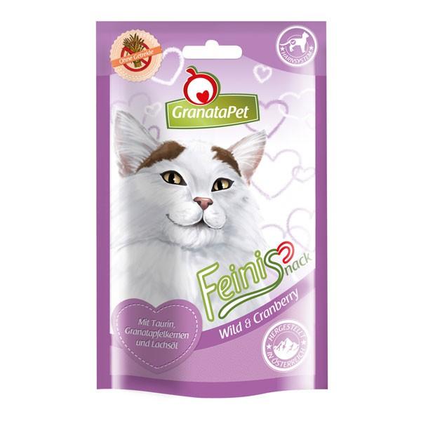 GranataPet Katzensnack Feinis Wild & Cranberry 50g