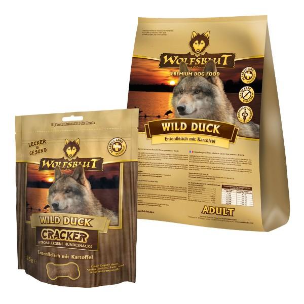 Wolfsblut Wild Duck Ente & Kartoffel 15kg + 225g Wolfsblut Cracker Gratis