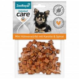 ZooRoyal Individual care Mini Hühnerwürfel mit Karotte & Spinat 70g