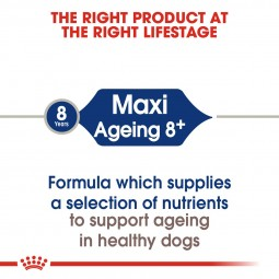 ROYAL CANIN MAXI Ageing 8+ 15kg + MAXI Ageing in Soße 10x140g