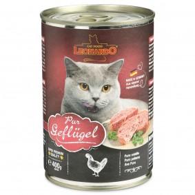 Leonardo Premium Katzenfutter Geflügel Pur 5+1 Gratis (6x400g)