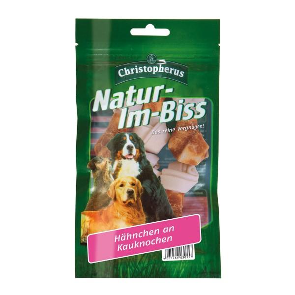 Christopherus Hundesnack Natur-im-Biss Hähnchen an Kauknochen 70g