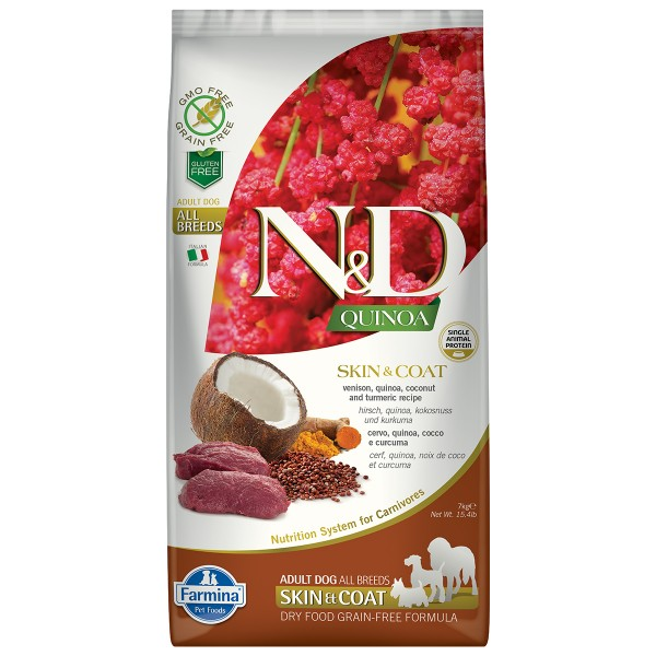 N&D Dog Quinoa Skin & Coat Vension
