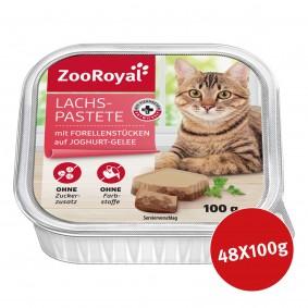 ZooRoyal Lachspastete mit Forellenstückchen auf Joghurt-Gelee 48x100g