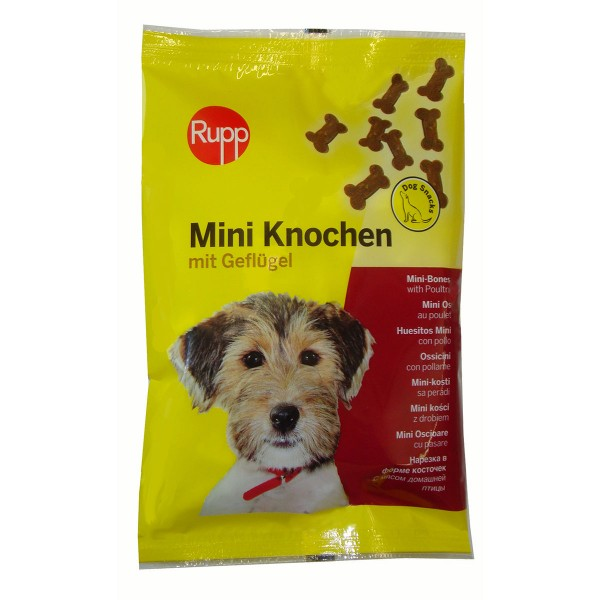 Rupp Hundesnack Mini-Knochen mit Geflügel 200g