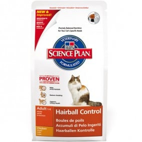 Hill's Feline Adult Hairball Control mit Huhn