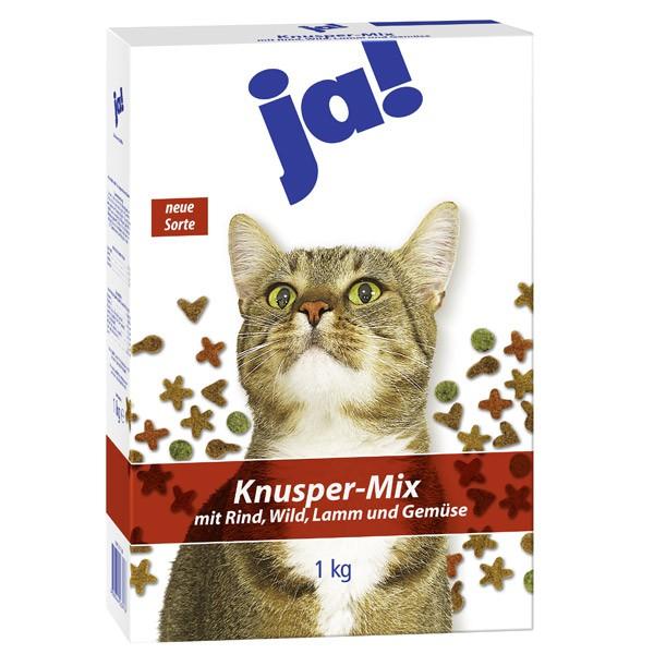ja! Katzenfutter Knusper-Mix Fleisch 1kg