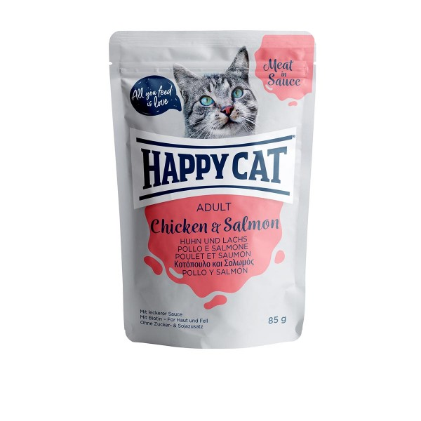 Happy Cat Pouches - Meat in Sauce Adult Huhn & Lachs