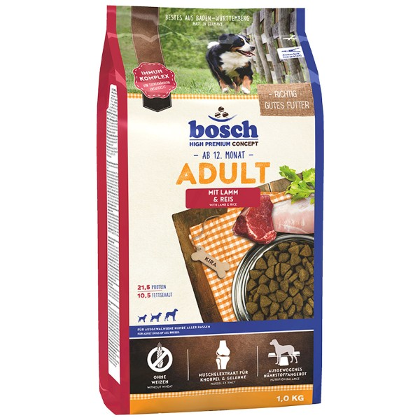 Bosch Hundetrockenfutter Adult Lamm & Reis - 1kg