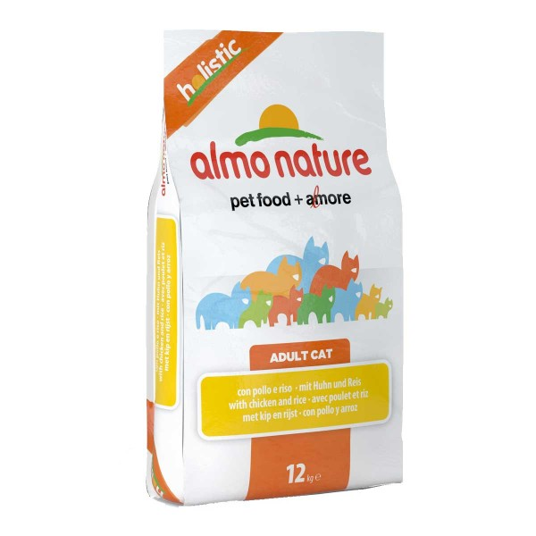 Almo Nature Holistic Cat Huhn+Reis - 12kg