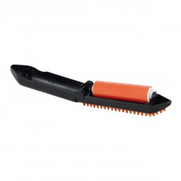 Trixie Fusselrolle mit Bürste 23cm orange/schwarz
