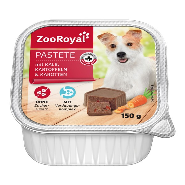 ZooRoyal Hundefutter Pastete mit Kalb, Kartoffe...
