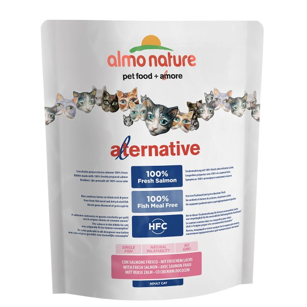 Haustier: Almo Nature Alternative dry Cat Lachs und Reis 3x2kg