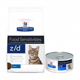 Hill's Prescription Diet z/d Food Sensitivities Katzenfutter Original 2kg + 6x156g