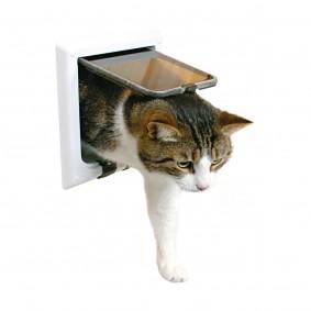 Trixie 4-Wege Katzenklappe mit Tunnel 21 x 21 cm