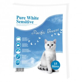 Europet Bernina Pure White Sensitive Litière pour chat 15 l