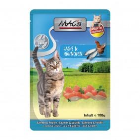 MAC's Cat Katzenfutter Pouchpack Lachs, Geflügel 12x100g