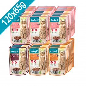 ZooRoyal XXL-Pouch Mixpaket Fleisch und Fisch 120x85g