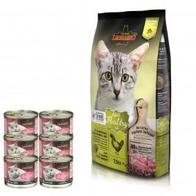 Leonardo Adult Poultry GF 7,5kg + Premium Geflügel pur 6x200g gratis