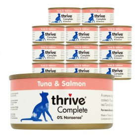 thrive Cat Complete Thunfisch & Lachs 12x75g