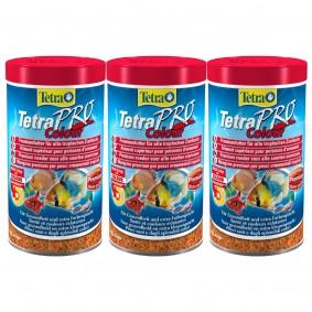TetraPro Fischfutter Colour Crisps 3x500ml