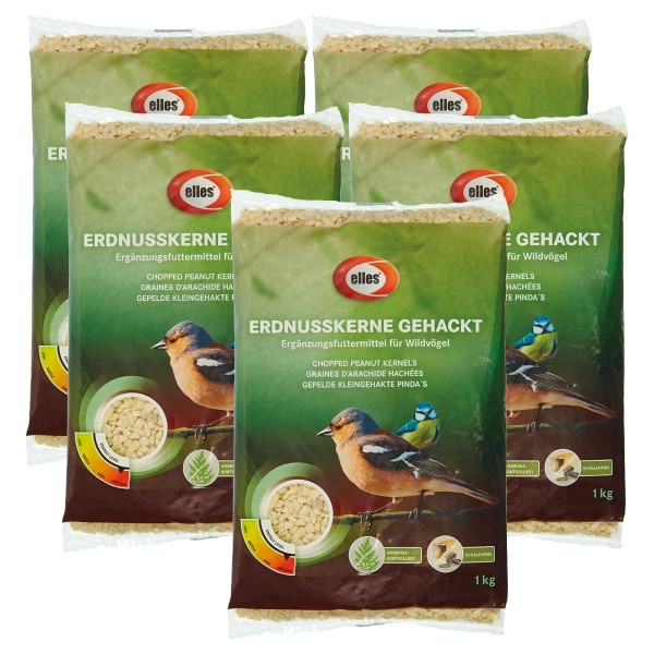 elles Wildvogelfutter Erdnusskerne gehackt 5 kg