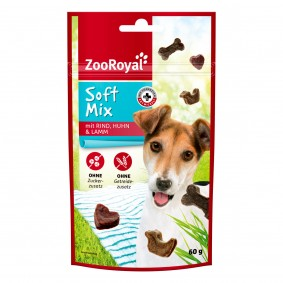 ZooRoyal Hundesnack Softmix mit Rind, Lamm & Huhn 60g