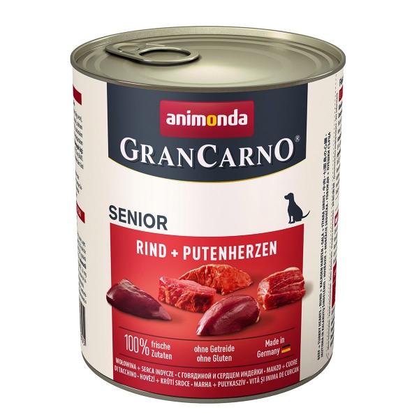 Animonda GranCarno Senior Rind und Putenherzen