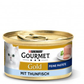 GOURMET Gold Feine Pastete Katzennassfutter mit Thunfisch