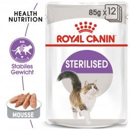 ROYAL CANIN STERILISED Mousse Nassfutter für ausgewachsene Katzen
