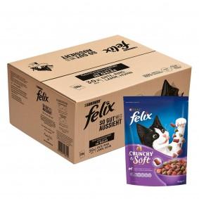 FELIX Geschmacksvielfalt vom Land in Gelee 120x85g + Crunchy & Soft Lamm mit Truthahn 4x950g