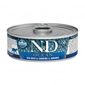 N&D Cat Ocean Seebarsch & Sardinen & Garnelen